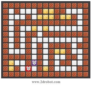جستجوی اول سطح - BFS - مارپیچ (Maze)